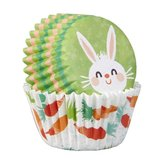 Wilton Mini Baking Cups Easter Bunny pk/100_