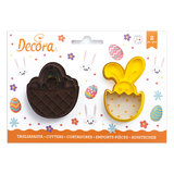 Decora Plastic Cookie Cutters Basket And Bunny Set/2_