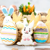 Decora Plastic Cookie Cutters Bunny And Decorated Eggs Set/2_