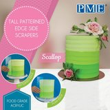 PME Tall Patterned Edge Side Scraper Scallop_
