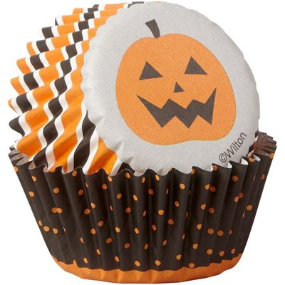 Wilton Mini Baking Cups Halloween Stripe & Dots pk/100