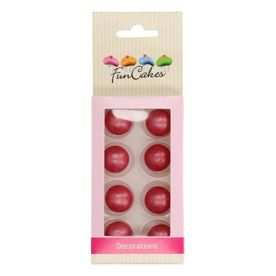 FunCakes Pearl Choco Balls Donker Roze set/8