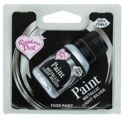 Rainbow Dust Paint Mettalic -Light Silver 25ml