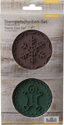 Birkmann Stamp Set Gingerman & Snowflake