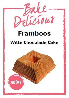 Bake Delicious Framboos Witte chocolade Cake Mix 580g