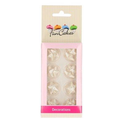Funcakes Fondant Decoratie Sterren Zilver Set/24