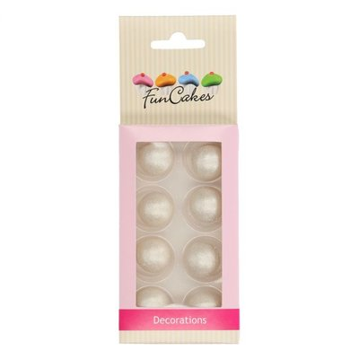 FunCakes Pearl Choco Balls Zilver Set/8