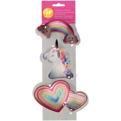 Wilton Magical Unicorn Metal Cookie Cutter Set/3