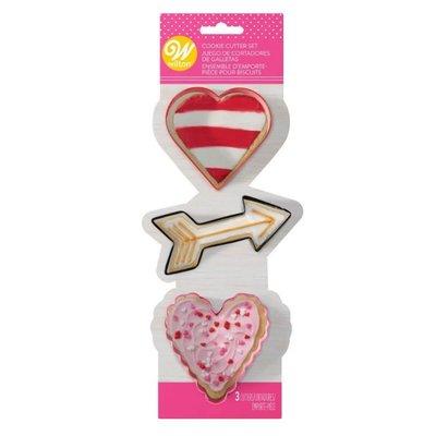 Wilton Metal Cookie Cutter Valentine Set/3