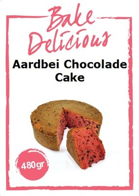 Bake Delicious Aardbei Chocolade Cake 480g