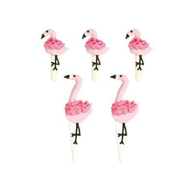 Decora Suikerdecoraties Flamingo pk/5
