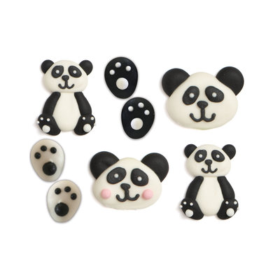 Decora Panda Sugar Decorations pk/8