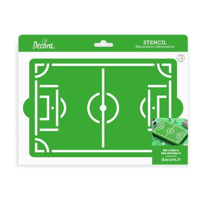 Decora Stencil Football Field 30x20cm
