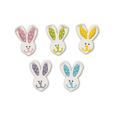 Decora Sugar Decorations Bunny Faces Pk/5