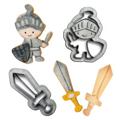 Decora Plastic Cookie Cutters Knight Set/2