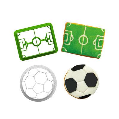 Decora Plastic Cookie Cutters Goal Set/2