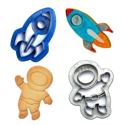 Decora Plastic Cookie Cutters Space