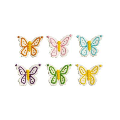 Decora Sugar Decorations Butterflies pk/6