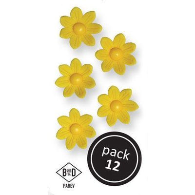 PME Suiker Decoratie Gele Bloempjes Yellow Daisies pk/12