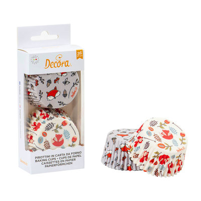 Decora  Baking Cups Foxes 36st