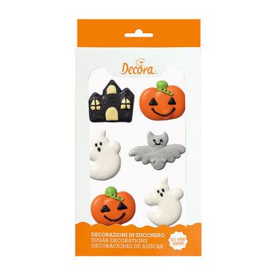 Decora Halloween Fantasie Suiker Decoraties 6st