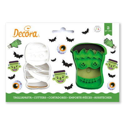 Decora Monsters Plastic Cookie Cutters Set 2