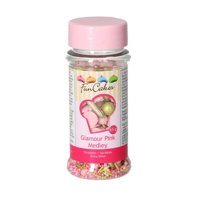 FunCakes Sprinkle Medley -Glamour Pink- 65g