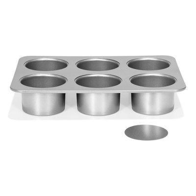 Patisse Silver-Top Mini Cheesecakevorm Losse bodem 6 vaks Ø8