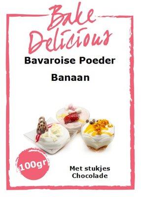 Bake Delicious Bavaroise Banaan- met stukjes Chocolade -100g