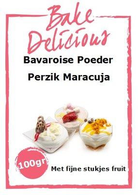 Bake Delicious Bavaroise Perzik Maracuja - met stukjes fruit -100g