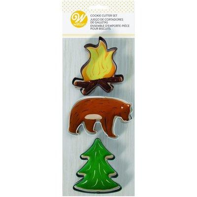 Wilton Cookie Cutters Fire & Bear & Tree Set/3