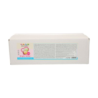 FunCakes Rolfondant -Bright White- 5kg (2x2,5kg)