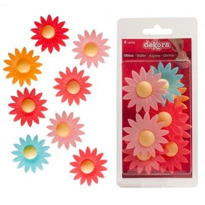 Dekora Wafer Colour Daisy Blister pk/8