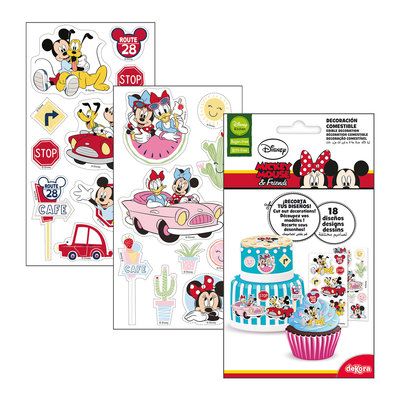DeKora Mickey & Minnie Cutting Edible Sheets