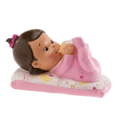 Dekora Taarttopper Baby Girl With Bottle 10x6cm