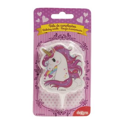 Dekora Unicorn Birthday Candle 7,5cm