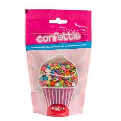 Dekora Heart Confetti Arti Colors 100g