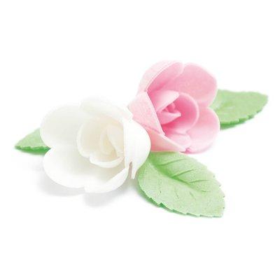 Scrapcooking Wafer Decoration Assorted Rose & Leaf Set/10