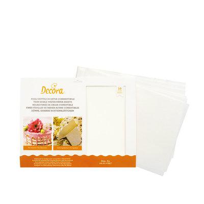 Decora Thin Wafer Paper White A4 - 10st