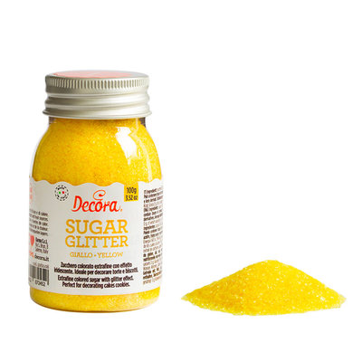 Decora Glittered Sugar Yellow 100g