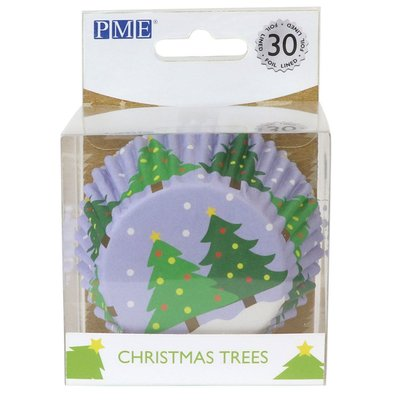 PME Foil Baking Cups Christmas Trees pk/30