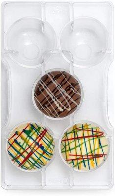 Chocolade Holvorm Halve Bol (5x) Ø 50 mm