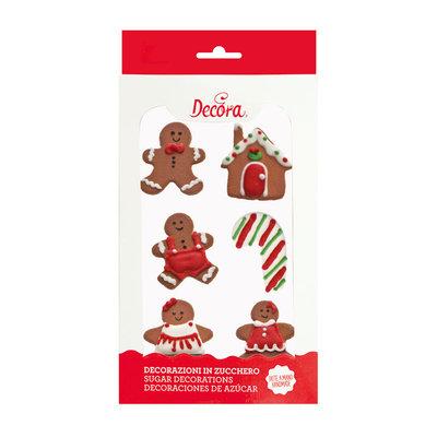 Decora Suikerdecoratie Gingerbread 6st
