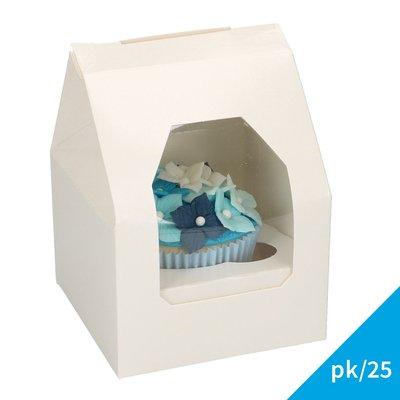 FunCakes Cupcake Doos 1 - Blanco pk/25