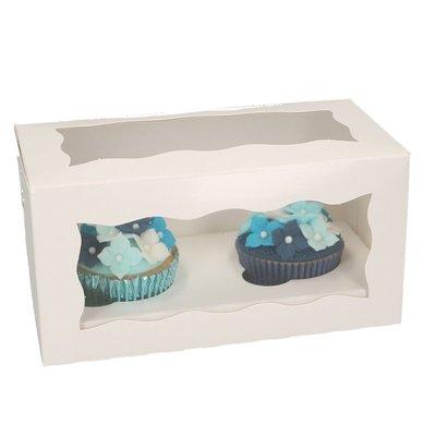 FunCakes Cupcake Doos 2 - Blanco pk/5