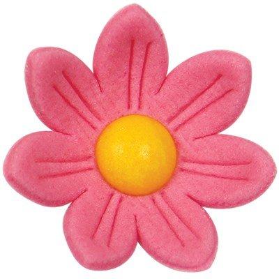 PME Suiker Decoratie Roze Margrietjes pk/12