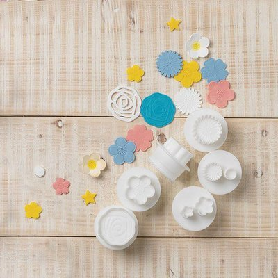 Cake Star Push Easy Flowers Cutters Set/6