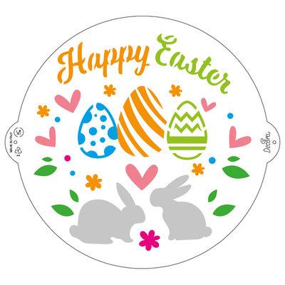 Decora Stencil Happy Easter ø 25 cm
