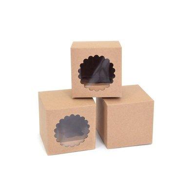House of Marie Cupcake Box 1 Kraft pk/3