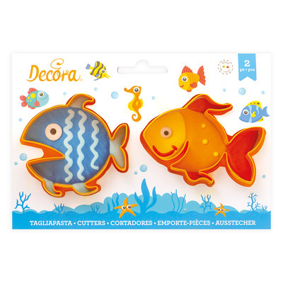 Decora Plastic Cookie Cutters Fishes Set 2